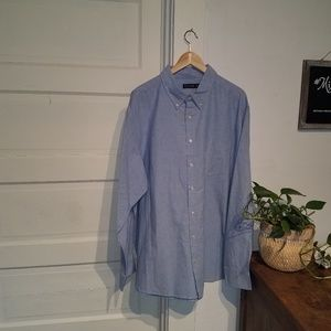 Faded Glory Blue Button Down NWT